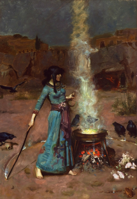 The magic circle, by John William Waterhouse